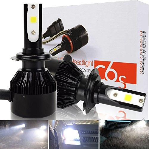 Safego Lampadine H7 LED 8000LM, Fari Abbaglianti o Anabbaglianti per Auto, Kit Lampada Sostituzione per Alogena Lampade e Xenon Luci, 12V DC, 6000K Bianco