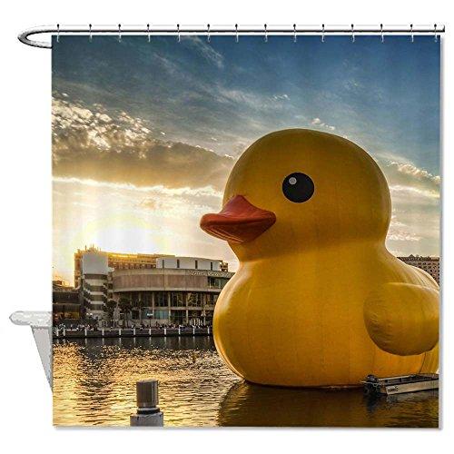 rioengnakg resistente alla muffa tessuto Giant Rubber Duck tenda doccia poliestere impermeabile Tenda doccia, Poliestere, #1, 66