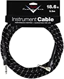 Fender Custom Shop Series 18.6ft guitar cable - Black - Straight Jk/Ang Jk