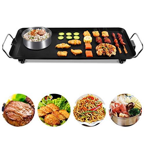 YANGLAN Teppanyaki Grill, Einstellbare Temperatur Elektrischer Grill-Tischgrill, Elektrische Haushaltsbackform Mit Multifunktionsfunktion, Rauchfreier, Nichthaftender Elektrischer Grill - Fiesta-grill-grills