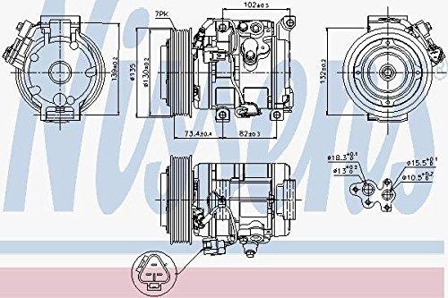 Preisvergleich Produktbild NISSENS 89250 Kompressor, Klimaanlage