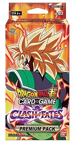 DB Dragon Ball Super Card Game - Clash of Fates - Premium Pack - 44 Carte in Totale BANDAI - Italiano