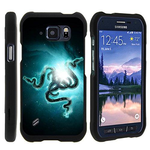 turtlearmor   SAMSUNG GALAXY S6Active 手机壳   G 890[ 超薄搭档 ] 两件套硬质修身扣 ON black - Blue Serpents