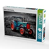 Oldtimer Traktor Hanomag 1000 Teile Puzzle quer