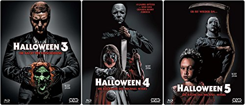 HALLOWEEN Edition Teil 3 4 5 Uncut 3D Lenticular Cover Limited STARMETALPACK / STEELBOOK Collection 3 BLU-RAY Neu (5 Blu Halloween 4 Ray)