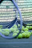 Tennis Practice Racquet and Balls Sports and Recreation Journal: 150 Page Lined Notebook/Diary