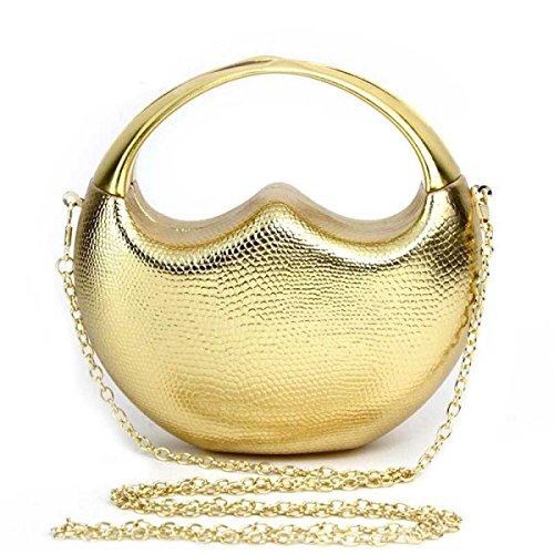Damen-Handtasche PU Wildleder Glänzend Damen Abendtäschchen Kosmetiktasche Handytasche Gold