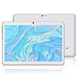 Android 9.0 Tablet 10' - YOTOPT WiFi 3G Tablet, Procesador Quad-Core, 2GB de RAM, 16GB de Memoria Interna, Bluetooth/GPS/OTG, (Blanco)...