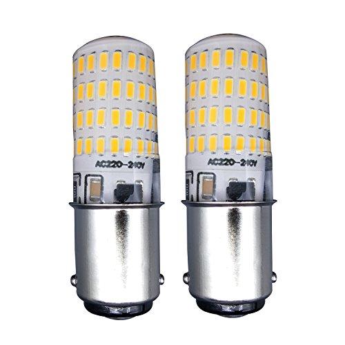 MZMing 2 Stück Kleine B15 Multipartikulär LED Energiespar Birne 4w Ersetzen 40w Halogenbirne 3000k Warmweiße 74SMD Kieselgel 450lm 360° Blickwinkel Dimmen Kalorienarm für Kühlschrank Abluftventilator