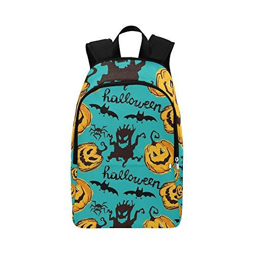 Halloween endlose Textur kann lässig Daypack Reisetasche College School Rucksack für Männer und ()