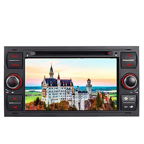 """7\"""" AUTORADIO MIT 3G DVD GPS Navigation USB SD Bluetooth Autoradio CD Moniceiver+Bluetooth+ Dual Zone+Subwoofer+DAB+Mirrorlink+VMCD Für Ford Focus Transit C/S-Max Fiesta Farbe: Schwarz"""