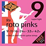 Rotosound CRS R9 Jeu de Cordes Super Light 9-11-16-24-32-42 Rose
