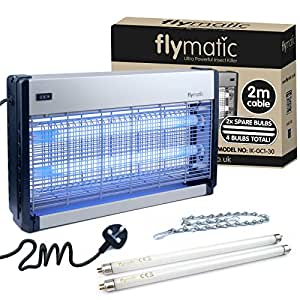 FLYMATIC PROFESSIONAL INSECT KILLER 30W ELECTRIC FLY KILLER BUG ZAPPER