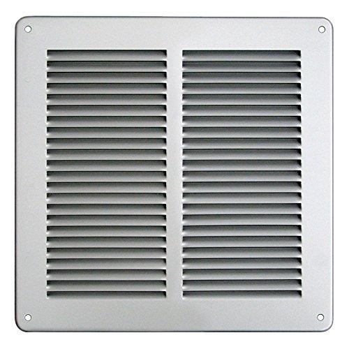 - Grille de ventilation métallique - Grille ventilation métal 240x240mm - Couleur inox