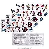1 Kindertattoos Piraten Tattoo Set -16 verschiedene Piraten Kinder Motive - No China! (1)