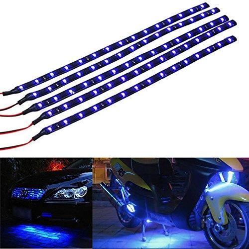 Mintice™ 5 X blu 12V striscia luminosa sottoscocca impermeabile flessibile 15 LED 30 centimetri auto veicolo auto griglia