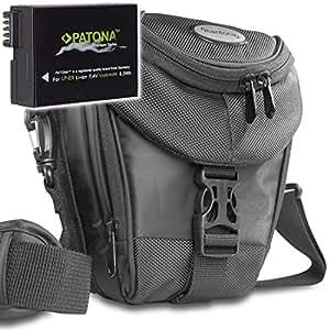 KIT MANTONA Colttasche Colt Kameratasche schwarz + PATONA PREMIUM SERIES Akku für CANON LP-E8 für CANON EOS 550D 600D 650D 700D