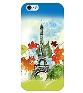 PrintDhaba EFFIEL TOWER D-6131 Back Case Cover for APPLE IPHONE 6S PLUS (Multi-Coloured)