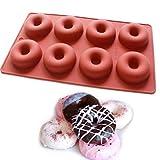 Vancgoods Mini 8-fach-Donuts Muffin-Kuchen-Wannen-Seife-Form-Form-Silikon-Gelee-Plastik-Lehm-Fertigkeit-Kunst-DIY Mold