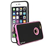 """iPhone 6s Case, iPhone 6 Case, Arae iPhone 6 / 6s 4.7"""" [Shock-Absorption] Hybrid Dual Layer Protective Case,Drop Protection [Brushed Metal Texture] Cover for iPhone 6 / 6s 4.7"""" (Babypink)"""