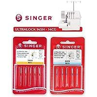 Singer Pack de 2 Paquetes de Agujas Overlock Singer 2022 500R ELx705 para M/áquina de Coser Remalladora Singer 14SH