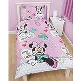 Disney Character TV Girls Kids Childrens Single Duvet Quilt Cover Bedding Set