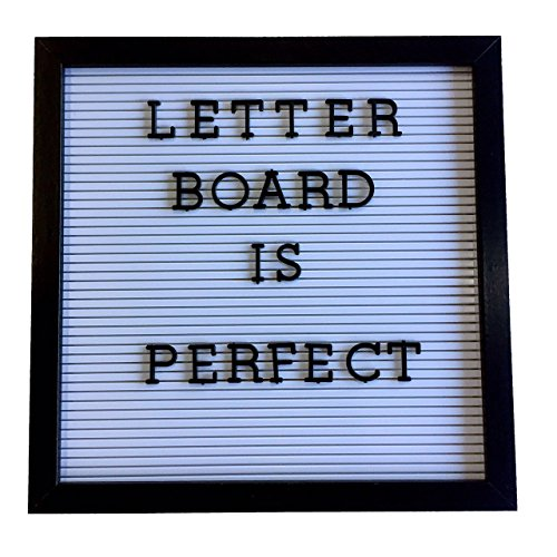 Nachricht-Wand,Home-Message-Board, Memo Board,Kunst,Handwerk,Memoboard,Anschlagtafeln und Brief-Zubehör,Retro-Bretter,Kunststoffteile,Schwarz, weiß und grau, Es gibt 188 Buchstaben und Zahlen, (30.5cm x 30.5cm x 4cm) Atoz Create