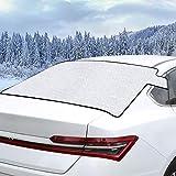 Sukuos Frontscheibenabdeckung Auto Scheibenabdeckung für Heckscheibe Windschutzscheibe Abdeckung gegen Schnee, EIS, Frost, Windschutzscheibe für Winter (138 * 80)