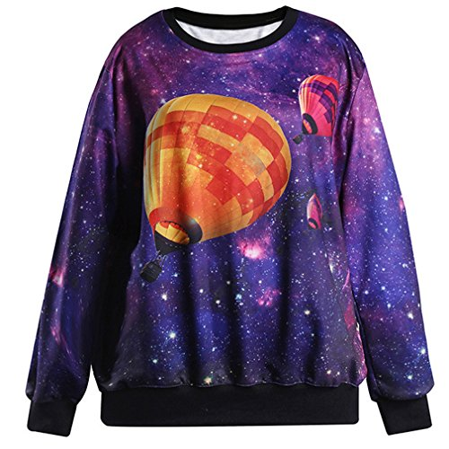 THENICE Damen Sweatshirt Hot air balloons