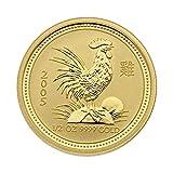 "1/2 oz Goldmünze Australien 2005- Lunar Serie I ""Year of the Rooster"" (Hahn) 999,9 Gold"
