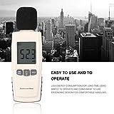 Misuratore di livello sonoro digitale Digital Noise Tester Schermo LCD Audio Vioce Descrivere Meter Decibel Monitor Tester di pressione (Colore: bianco)
