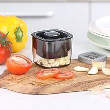 Ecooe prensa-ajos triturador de ajos plástico resistente con cuchillas de acero inoxidable