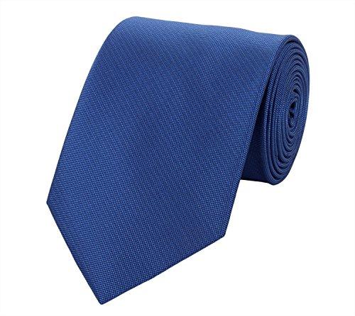 Elegante 8-cm Herren Krawatten von Fabio Farini, perfekt für Buisness, Hochzeit oder Abschlussball, Blau