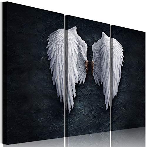La Vie 3 Teilig Engel Flügel Wandbild Ölbild mit Rahmen Künstlerische Leinwanddrucke Bilder Moderne Kunstdruck Deko Geschenk für Zuhause Wohnzimmer Schlafzimmer Küche Hotel Büro