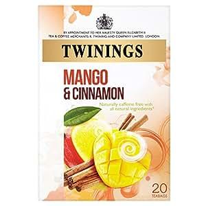 Twinings - 20 x Sachets de Thé sans Caféine Orange Mango & Cinnamon - 40g
