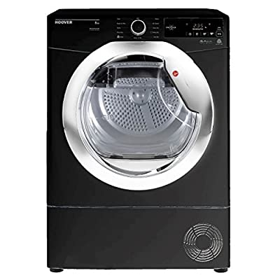 Hoover DXC8TCEB-80 8kg Condenser Tumble Dryer in Black 4 Washing Temps by Hoover
