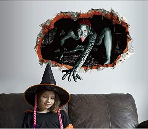 XIMI Halloween Horror 3D Wandsticker Geist Hand Bar KTV Spukhaus Fenster Ecke Heikles Dekoration Horror Wandaufkleber