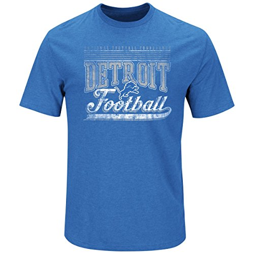 Majestic Ball Carrier Shirt - Detroit Lions Sky blau - L