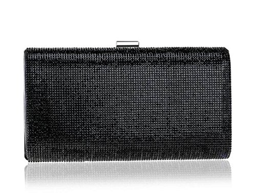 FZHLY Abendtasche High-End Damen Diamant Clutch,Black (Damen-geldbörse High-end)