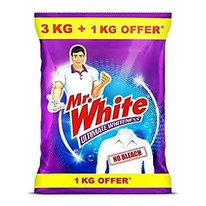 Mr.White Detergent Powder - 3KG with Free 1kg