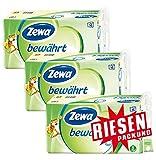 Zewa bewährt Toilettenpapier 3-lagig RIESENPACKUNG 3 Packungen (je 16 Rollen x 150 Blatt)