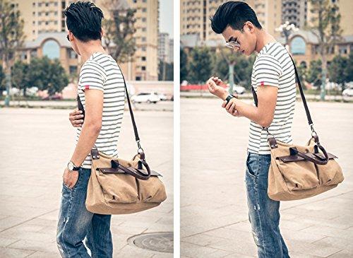 Bag Sacchetto Di Svago Boia Tracolla Tracolla Borsa Di Tela Messenger Di Tela Borsa Grande Capacità Di Tela Gli Uomini Foluton Per Khiki Viaggi Di Piacere