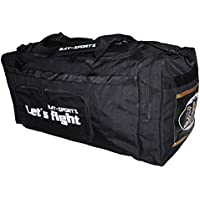 "BAY® ""Let´s Fight"" XL, 80 cm, Sporttasche, Kampfsport, Budo, Boxen, Thaiboxen Muay Thai Champ K1 MMA MUAYTHAI K-1, Krav Maga, Tasche, Trainingstasche, Thaiboxtasche Bag, schwarz"