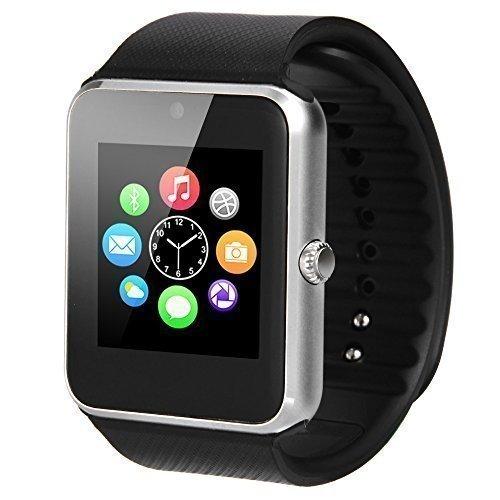 """MEMTEQ® 1.54 """" Smart Watch Reloj Inteligente Bluetooth V3.0 NFC Pantalla táctil /Monitor de sueño/podómetro/Alarma/ Fotografía remoto/sensor de gravedad /Soporta llamada Mensaje SIM para Smartphone Android , Samsung, HTC, Huawei, ZTE, LG, HTC, Sony y iPhone 5 / 5C / 5S / 6/6 plus Negro"""
