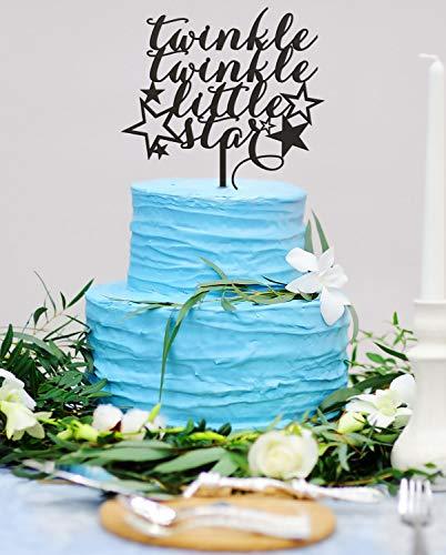 echt offenbaren Cake Topper Baby Boy Baby M?dchen Twinkle Twinkle Little Star Kuchen Topper Baby Dusche Cake Topper Geschlecht Neutral Cake Topper ()