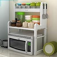TIAMO Home Store Estantes de Cocina Estantes de microondas Suelo Utensilios de  Cocina Suministros Tazas Rack 7b249de10570