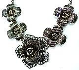 Dichiarazione catena collana elegante nero 4347 Collier da donna Dark shine