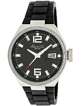 Kenneth Cole Damen-Quarzuhr mit schwarzem Zifferblatt Analog-Anzeige und schwarz PU Armband KC4812(Zertifiziert...