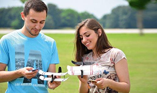 TobyRich Moskito: Smartphone App gesteuertes Flugzeug - ferngesteuerte Drohne für iOS und Android - RTF 2-Kanal Flieger aus EPP -
