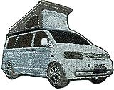Car VW T5 Camper camping Bus Tuning Ausbau Roadtrip Patch Aufnäher Abzeichen
